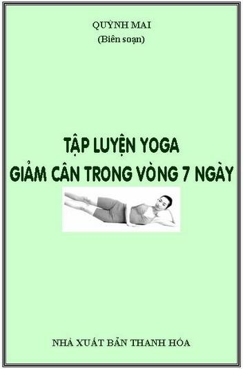 Tập luyện yoga giảm cân trong 7 ngày