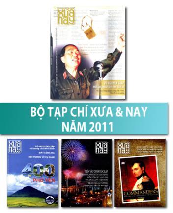 Bộ Tạp chí Xưa & nay năm 2011