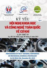 Kỷ yếu hội nghị khoa học và công nghệ toàn quốc về cơ khí - Lần IV, 2015 (Tập 1)